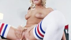 Flexible Blond Dancer Mia Malkova Flashes Off Her Assets For A Role