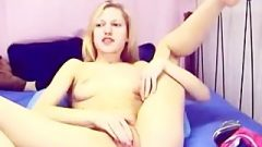 Racy Webcam Girl Putting Her Legs Behind Her A Blowjob